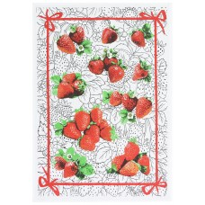 Kitchen towel Belarusian linen 16С153 strawberries