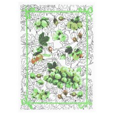 Kitchen towel Belarusian linen 16С153 gooseberry