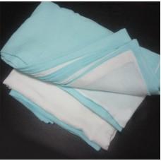Комплект постельного белья из льна Белорусский лен бело-мятный