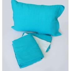 Комплект постельного белья из льна Белорусский лен голубой