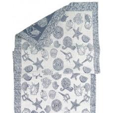 Linen towel Belarussian flax Sea blue col.50, р.70 17с1