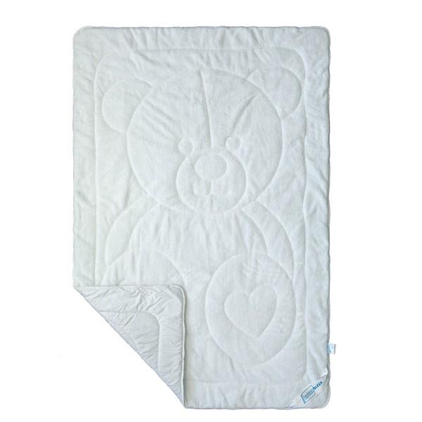 Детское махровое одеяло SoundSleep Cute Мишка белое 110х140 см