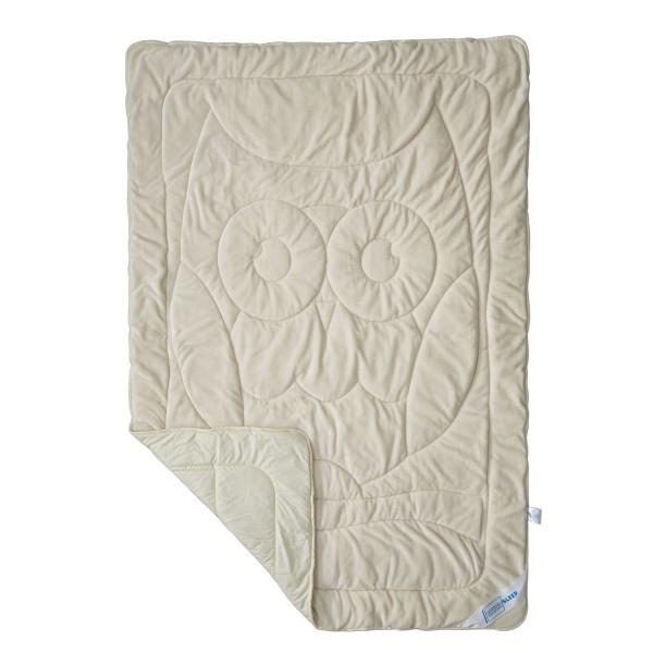 Махровое одеяло двухстороннее Совушка SoundSleep Cute бежевое 140х205 см