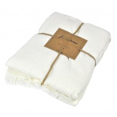 Cotton bed SoundSleep Muslin white 200x260 cm
