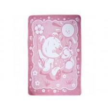 Детское одеяло Мишка Влади розовое  100х140 см