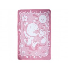 Baby blanket Bear Vlady pink