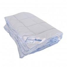Шерстяное одеяло в сатине SoundSleep Color Dreams голубое 140х205 см