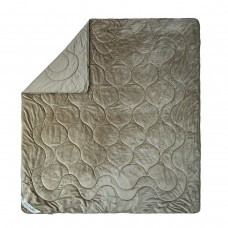 Одеяло двухстороннее махровое Cute SoundSleep светло-серое 200х220 см