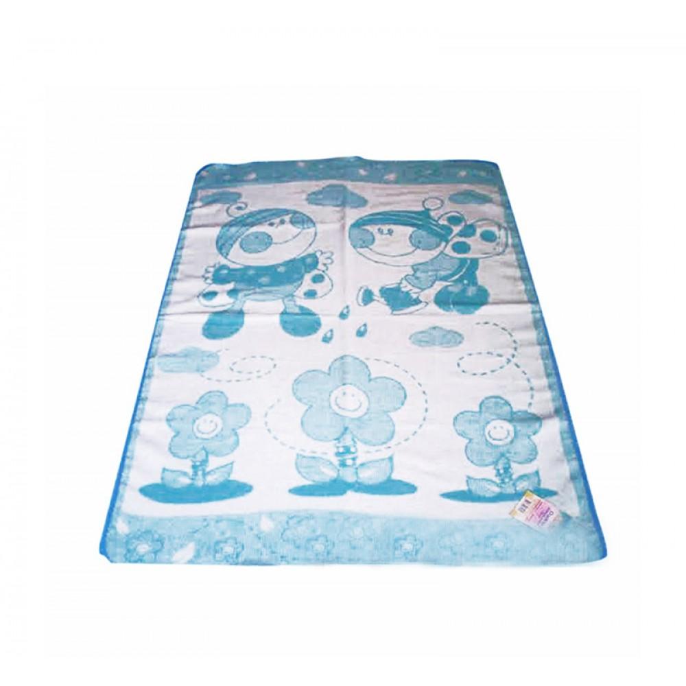 Детское одеяло Букашка Влади  100х140 см голубое
