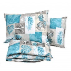 Set of bedspread and pillows Blue Roses TM Emily