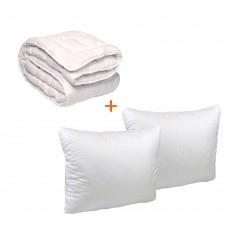 Set Soft bed blanket + 2 pillows 70x70 TM Emily double