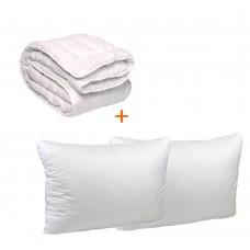 Set Soft bed blanket + 2 pillows 50x70 TM Emily euro
