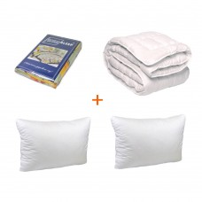 Set of Ready-made solution bed linen + 2 pillows + blanket TM Emily double