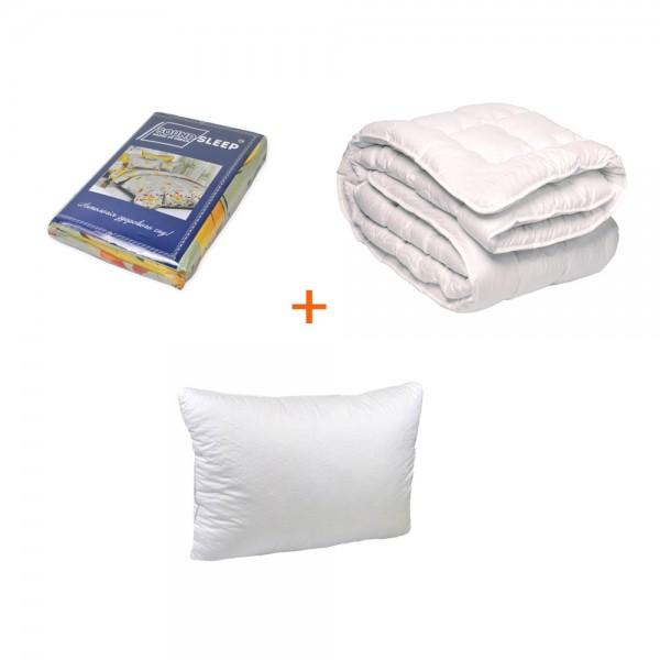 Набор Готовое решение постельное белье+подушка+одеяло Emily полуторный