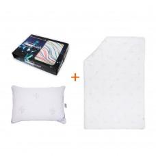 Set Nice wake up bed linen + pillow + blanket SoundSleep single