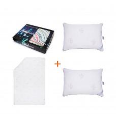 Set Pleasant wake-up bed linen + 2 pillows + SoundSleep Euro blanket