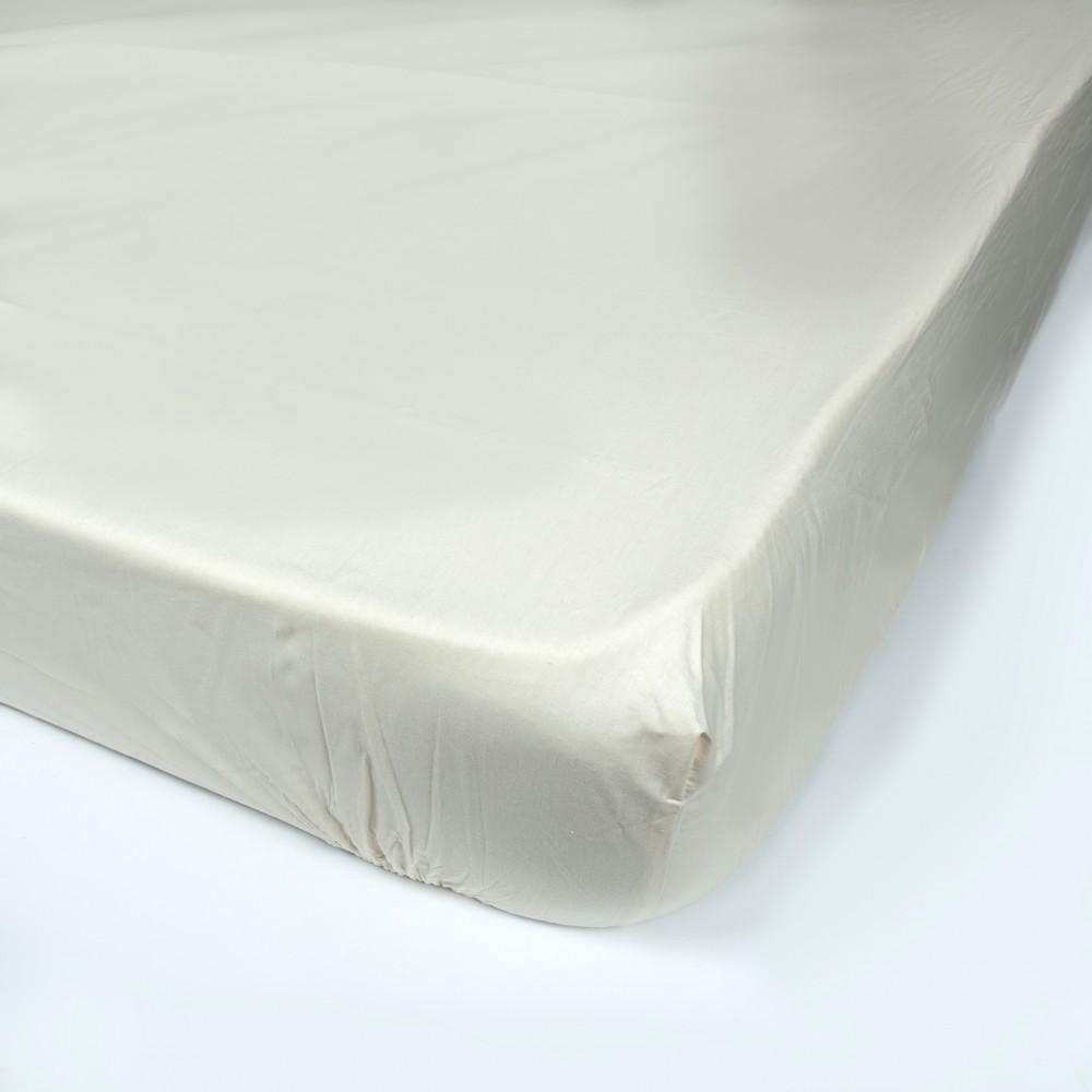 Простынь на резинке SoundSleep 90х200 см кремовая