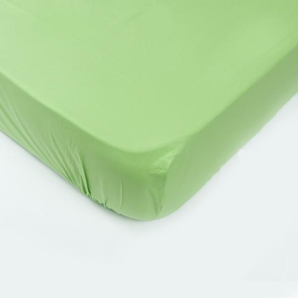 Простынь на резинке SoundSleep 200х200 см зеленая