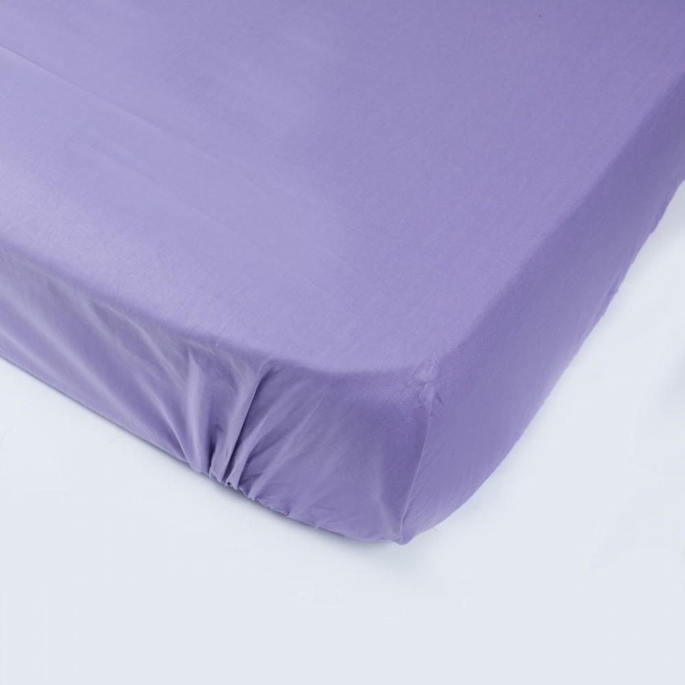 Простынь на резинке SoundSleep 90х200 см фиолетовая