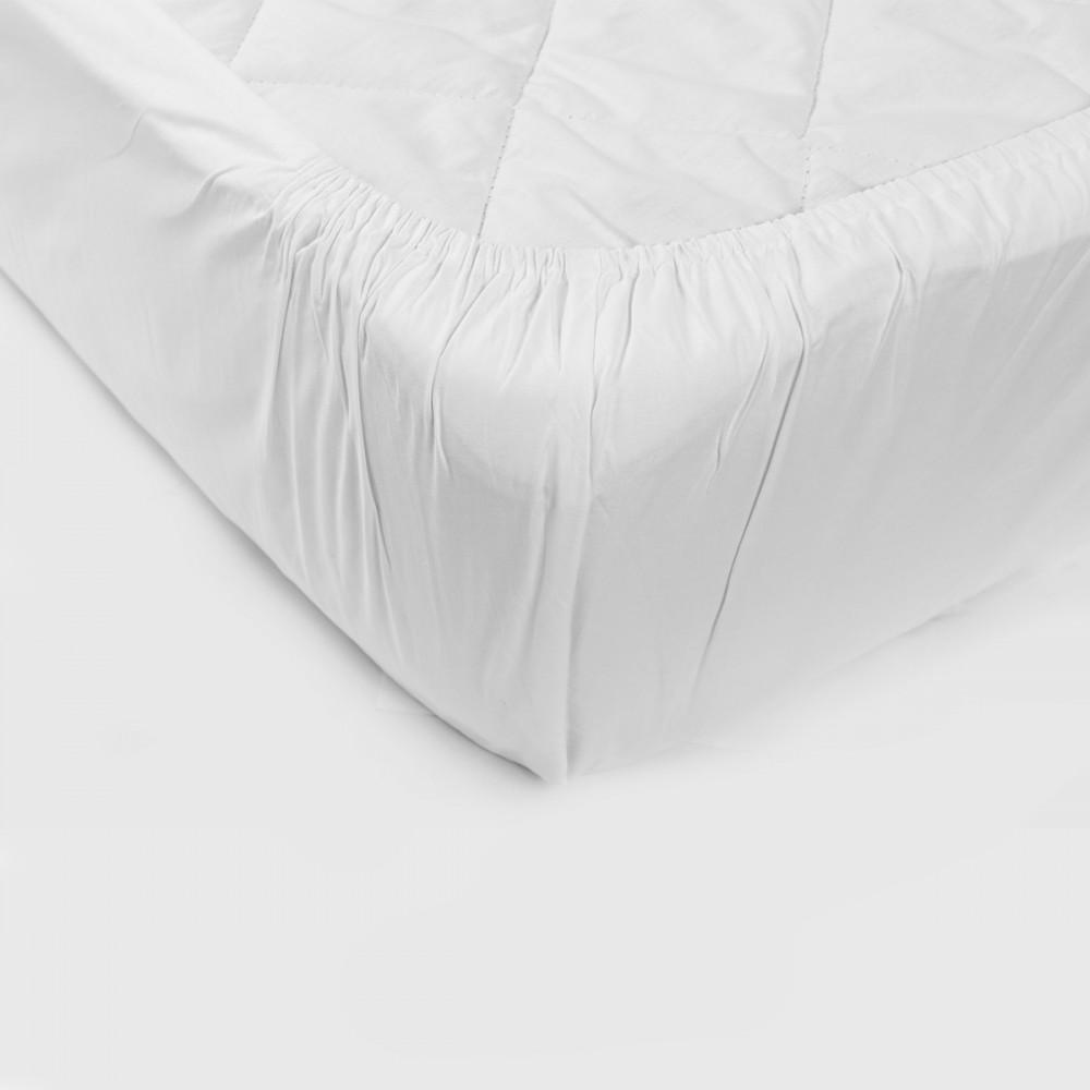 Простынь на резинке SoundSleep 160х200 см белая