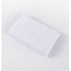 Terry towel with border Iris Home white white 40x70 cm