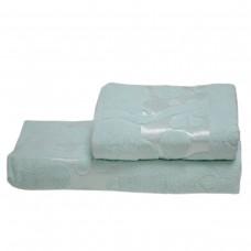 Махровое полотенце Julia Gizli Bahce аквамарин 50х90 см