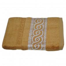 Махровое полотенце Julia Bamboo Spiral горчичное 50х90см