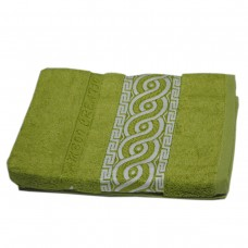 Махровое полотенце Julia Bamboo Spiral оливковое 50х90см