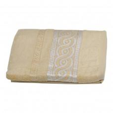Махровое полотенце Julia Bamboo Spiral песочное 70х140см