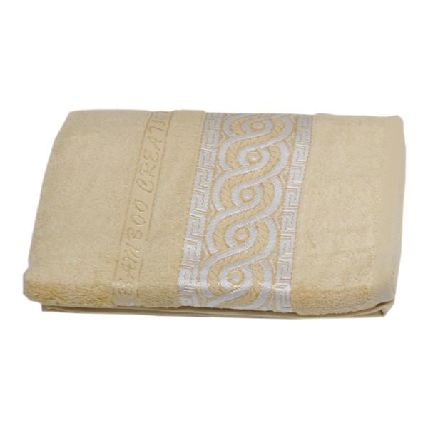 Махровое полотенце Julia Bamboo Spiral песочное 50х90 см