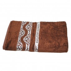 Махровое полотенце Julia Bamboo Destina коричневое 50х90см