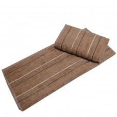 Махровое полотенце Julia Sport Cotton кофейное 70х140см