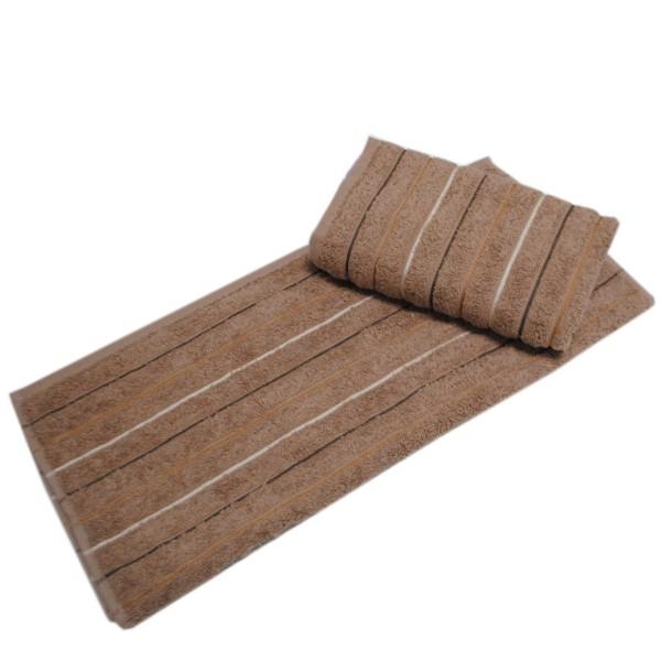 Махровое полотенце Julia Sport Cotton кофейное 70х140 см