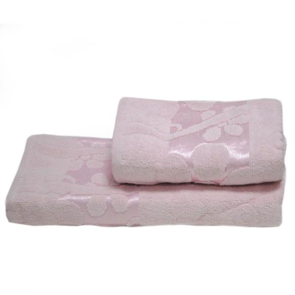 Махровое полотенце Julia Gizli Bahce сухая роза 70х140 см