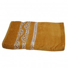 Махровое полотенце Julia Bamboo Destina горчичное 50х90см