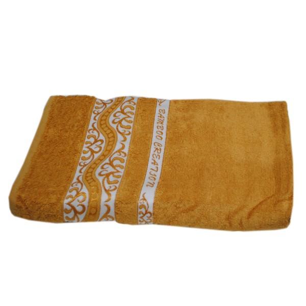Махровое полотенце Julia Bamboo Destina горчичное 70х140 см