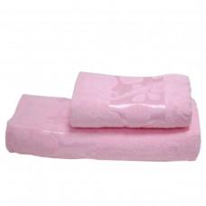 Махровое полотенце Julia Gizli Bahce розовое 50х90см