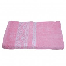 Махровое полотенце Julia Bamboo Destina розовое 70х140см