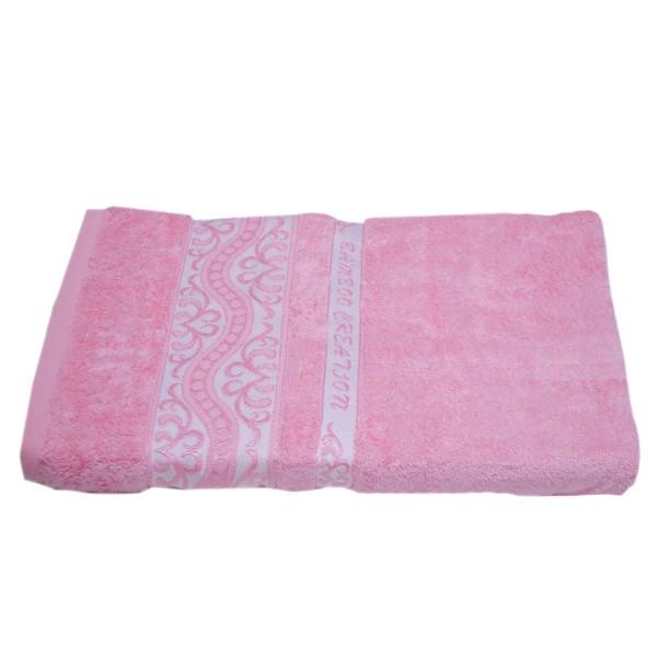 Махровое полотенце Julia Bamboo Destina розовое 70х140 см