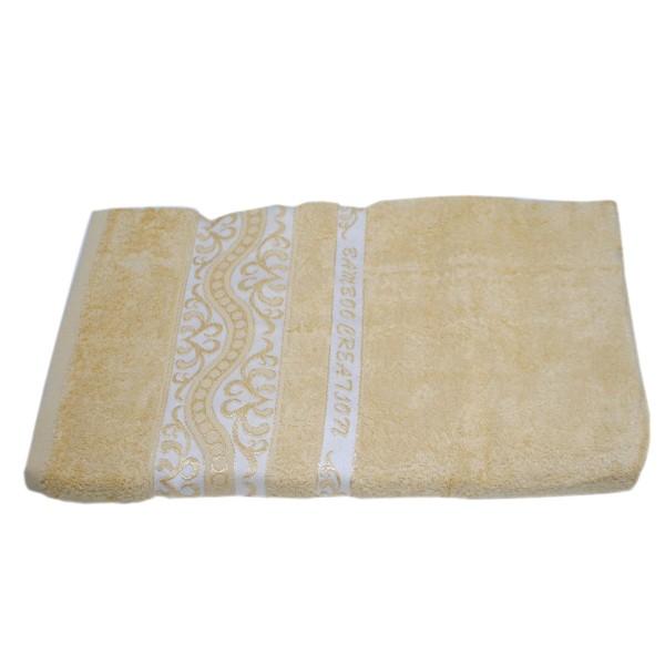 Махровое полотенце Julia Bamboo Destina песочное 50х90 см