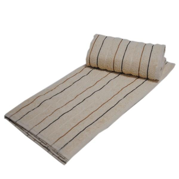 Махровое полотенце Julia Sport Cotton песочное 50х90 см