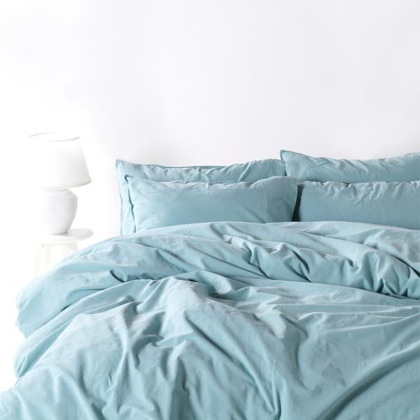 Комплект постельного белья SoundSleep Stonewash Adriatic полуторный pastel mint мятный