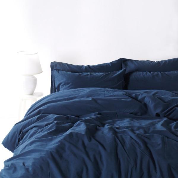 Комплект постельного белья SoundSleep Stonewash Adriatic полуторный dark blue синий
