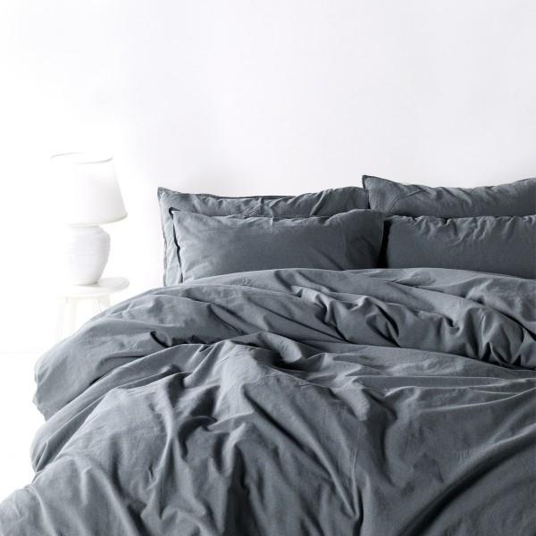 Комплект постельного белья SoundSleep Stonewash dark gray полуторный серый