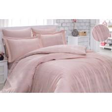 Комплект постельного белья SoundSleep сатин-жаккард Kareli Pudra евро