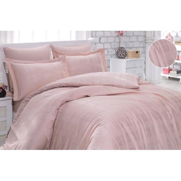 Комплект постельного белья SoundSleep Kareli сатин-жаккард евро pudra
