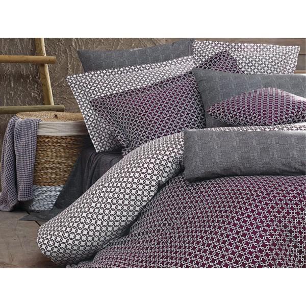 Комплект постельного белья SoundSleep Loyalİty Bordeaux Ran-105 полуторный