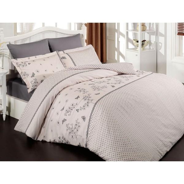 Комплект постельного белья SoundSleep Azara евро Pembe Ran-109