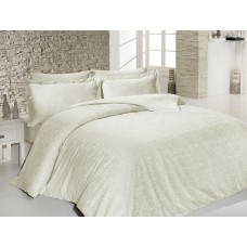 Bed linen set SoundSleep Sarmasik Krem Jacquard euro