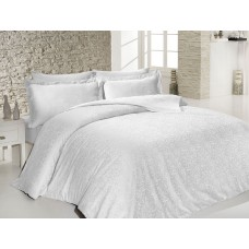 Bed linen set SoundSleep Sarmasik White Jacquard euro